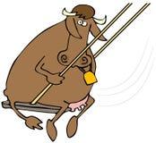 Carne de vaca de balanceo Imagenes de archivo