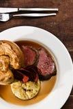 Carne de vaca de carne asada Fotos de archivo libres de regalías