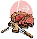 Carne de vaca de carne asada Fotos de archivo