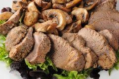 Carne de vaca de carne asada rebanada fotografía de archivo