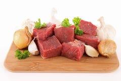 Carne de vaca de la carne sin procesar Foto de archivo libre de regalías