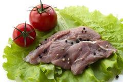 carne de vaca de la carne sin procesar Imágenes de archivo libres de regalías