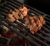 Carne de vaca de la fritada de la barbacoa Imagen de archivo libre de regalías