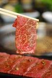 Carne de vaca de la rebanada Imagen de archivo libre de regalías