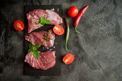 Carne de vaca de los filetes fotos de archivo