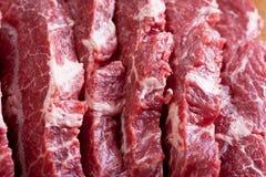 Carne de vaca de mármol Foto de archivo libre de regalías