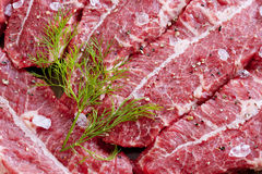 Carne de vaca de mármol Fotografía de archivo