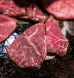 Carne de vaca de Wagyu en la placa imagen de archivo