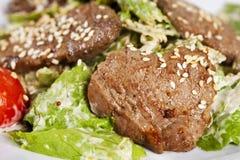 Carne de vaca del sésamo con las verduras Fotografía de archivo