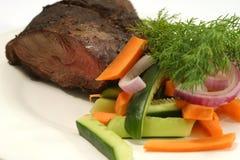 Carne de vaca del tomate y de carne asada Foto de archivo libre de regalías