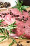 Carne de vaca en la cocina para cocinar Imagen de archivo