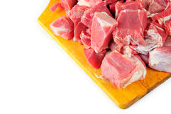 Carne de vaca en un fondo blanco Imagen de archivo