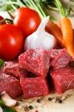 Carne de vaca fresca Imagen de archivo libre de regalías