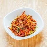 Carne de vaca frita con la comida de China de las pimientas fotografía de archivo