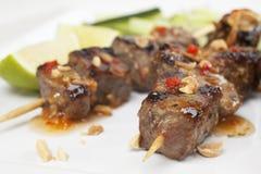 Carne de vaca Kebabs Imagenes de archivo