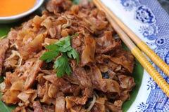 Carne de vaca Kway Teow Foto de archivo libre de regalías