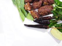 Carne de vaca picadita picante frita, comida tailandesa, comida picante, carne de vaca frita imagen de archivo libre de regalías