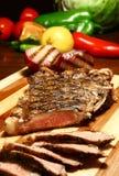 Carne de vaca rebanada Foto de archivo libre de regalías