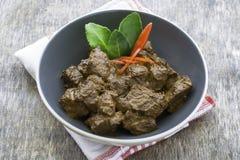 Carne de vaca Rendang, comida indonesia Imagen de archivo libre de regalías