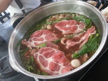 Carne de vaca Shabu Fotos de archivo
