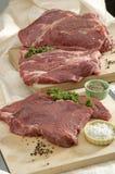 Carne de vaca sin procesar Imagen de archivo libre de regalías