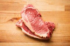 Carne de vaca sin procesar fresca foto de archivo libre de regalías