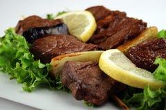Carne de Yakitori Imagens de Stock