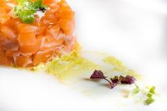 Carne del atún con la salsa verde Imagen de archivo