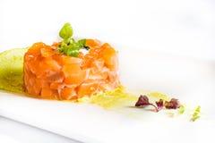 Carne del atún con la salsa verde Foto de archivo