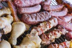 Carne del barbecue Fotografie Stock Libere da Diritti