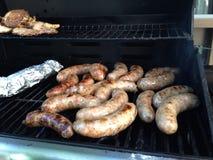 Carne del barbecue dell'alimento della salsiccia del BBQ immagine stock libera da diritti