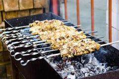Carne del Bbq Parrilla al aire libre delicions de la parrilla de la barbacoa imagen de archivo libre de regalías