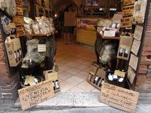 Carne del cinghiale da vendere Fotografia Stock