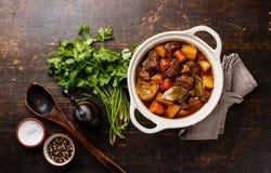 Carne del manzo stufata con le verdure Immagine Stock Libera da Diritti