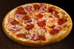 Carne del misto de la pizza Fotografía de archivo