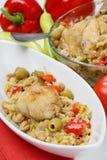 Carne del pollo con la verdura Immagini Stock