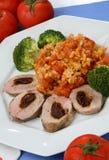 Carne del pollo con la verdura Immagine Stock Libera da Diritti