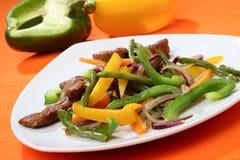 Carne del pollo con la verdura Immagini Stock Libere da Diritti