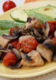 Carne del pollo nel modo toscano Fotografie Stock