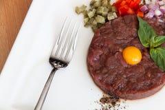 Carne del tartaro Immagine Stock