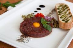 Carne del tartaro fotografie stock