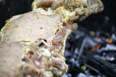 Carne deliciosa clasificada con las verduras imágenes de archivo libres de regalías