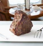 Carne dell'arrosto pronta per intagliare Fotografie Stock