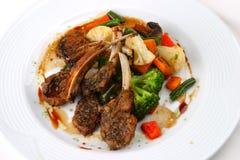 Carne dell'insalata Fotografia Stock
