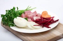 Carne della carne con le verdure Fotografie Stock