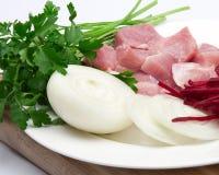 Carne della carne con le verdure Fotografie Stock Libere da Diritti