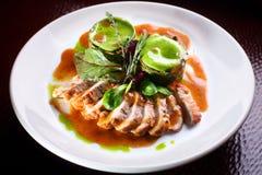 Carne della frittura Fotografia Stock