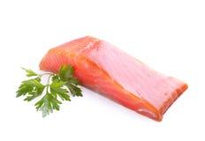 Carne della trota con prezzemolo Fotografia Stock