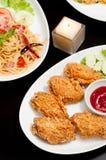 Carne delle ali di pollo immagine stock
