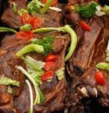 Carne di capra cotta Fotografie Stock